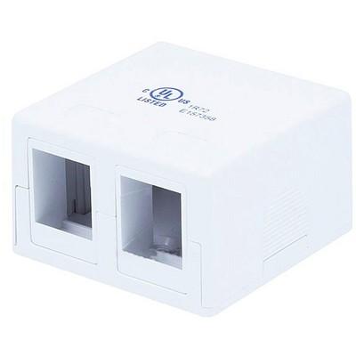 Monoprice 2-port Keystone Surface Mount Box - White