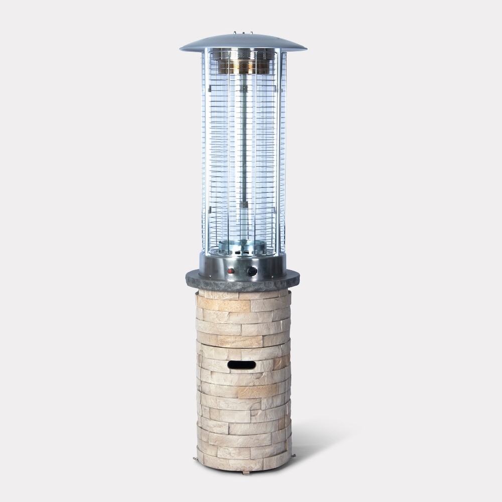 Image of Chisholm Stone Outdoor Patio Induction Heater - Natural - Threshold , White