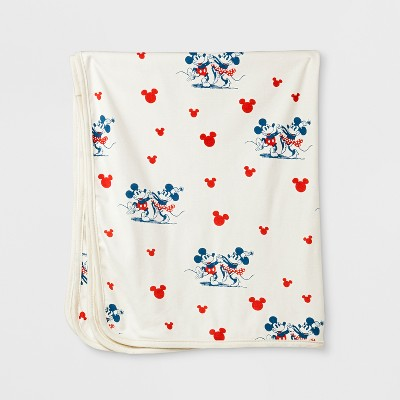 Junk Food Baby Girls' Disney Minnie Mouse Print Blanket - White