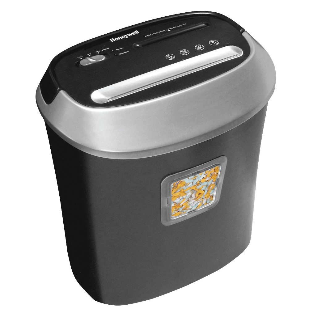 Image of Cross-Cut Paper Shredder 12 Sheet with CD Slot Black - Honeywell