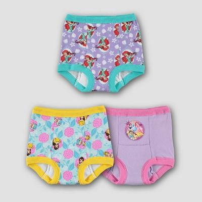 Toddler 3pk Disney Princess Training Pants Briefs - 2T