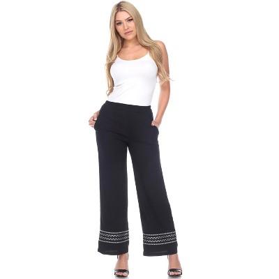 Women's Wide-Leg Pants - White Mark