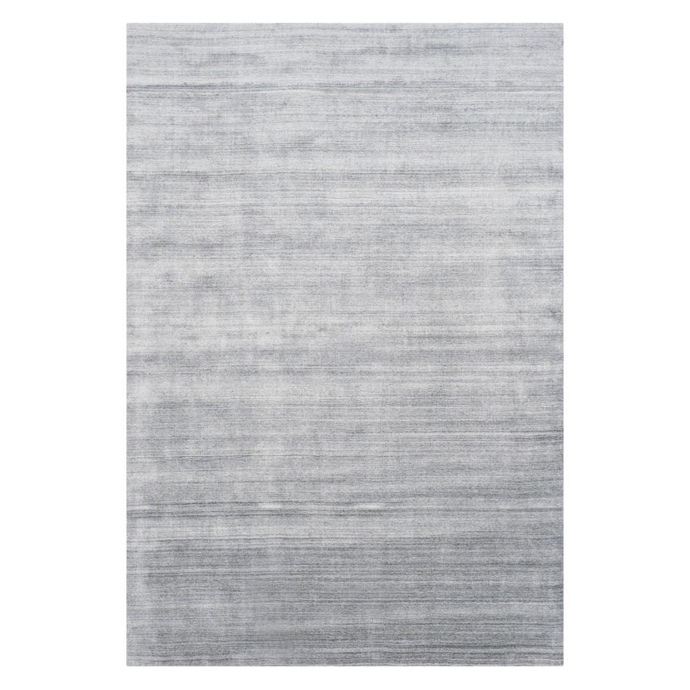 6'X9' Solid Area Rug Light Gray - Safavieh