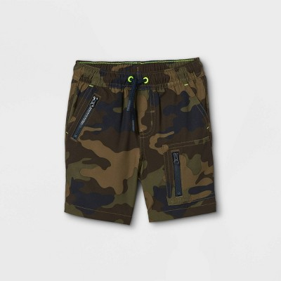 Toddler Boys' Woven Pull-On Quick Dry Utility Chino Shorts - Cat & Jack™ Camo