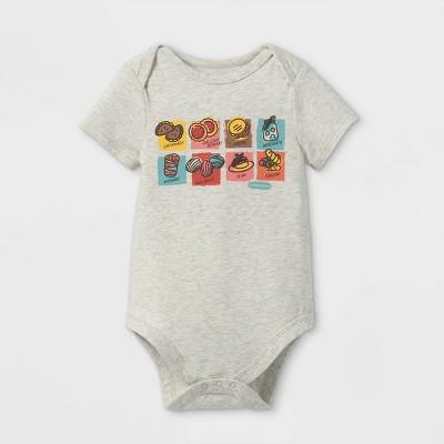 Latino Heritage Month Baby Snacks Bodysuit - Light Gray 6-9M