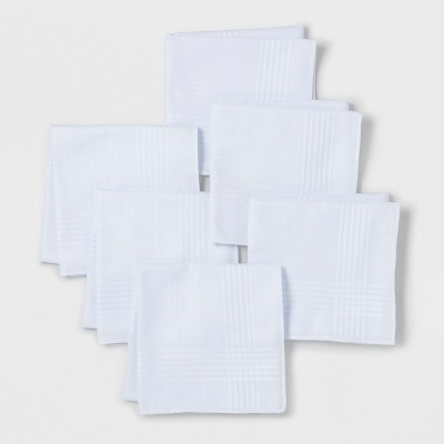 Men's 6pk Hankies and Handkerchiefs Set - Goodfellow & Co™ - White - One Size