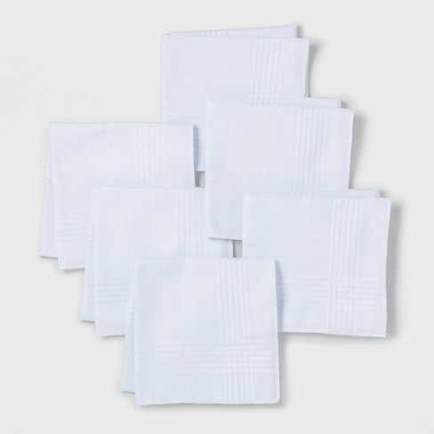 Men's 6pk Hankies and Handkerchiefs Set - Goodfellow & Co™ - White - One Size - image 1 of 1