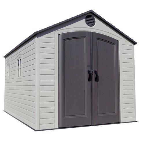 Outdoor Storage Shed 8' x 12.5' - Desert Sand - Lifetime - image 1 of 2