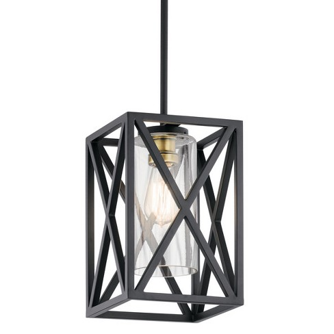 """Kichler 44083 Moorgate 8"""" Wide Mini Pendant with Clear Glass Shade - image 1 of 4"""