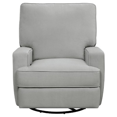 Luann Swivel Gliding Recliner Gray - Baby Relax