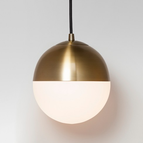 Glass Globe Pendant Ceiling Light Brass Lamp Only - Project 62™ : Target