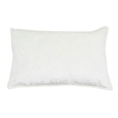 Ibenz Ice Velvet Lumbar Throw Pillow White - Décor Therapy