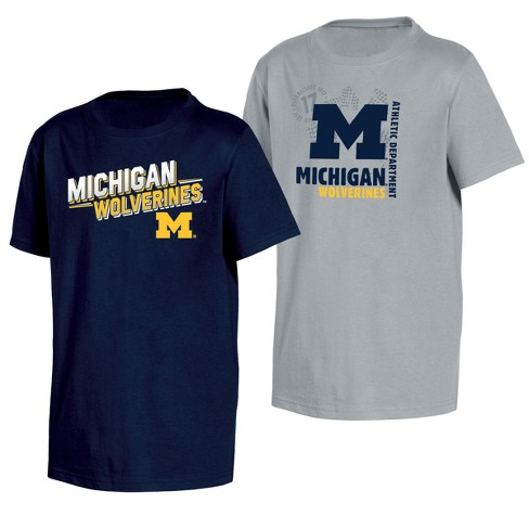 Michigan Wolverines Double Trouble Toddler Short Sleeve 2pk T-Shirts - image 1 of 3
