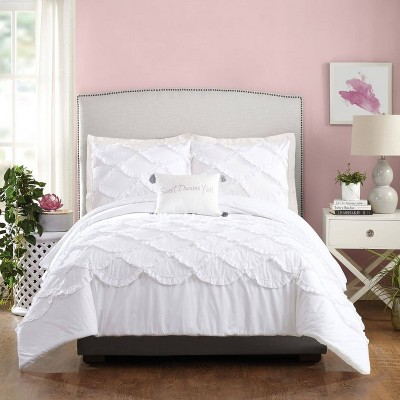 Ruffled Scallop Comforter Set - Jessica Simpson