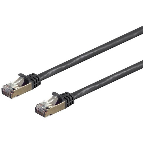 Monoprice Cat7 Ethernet Network Patch Cable - 1 feet - Black | 26AWG, Shielded, (S/FTP) - Entegrade Series - image 1 of 4