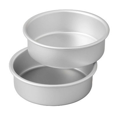 Wilton 2pc Small and Tall Aluminum Layer Cake Pan Set