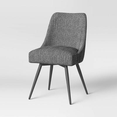 Geller Modern Upholstered Swivel Dining Chair Black/White  - Project 62™