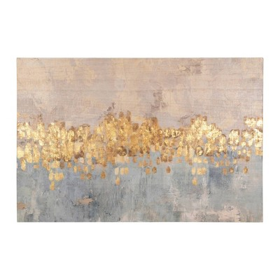Abstract Accents Wood Framed Wall Canvas Art Blue/Gold - 3R Studios
