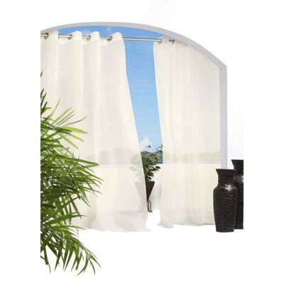 Outdoor Decor Cote D'Azure Outdoor Linen Grommet Top Window Panel