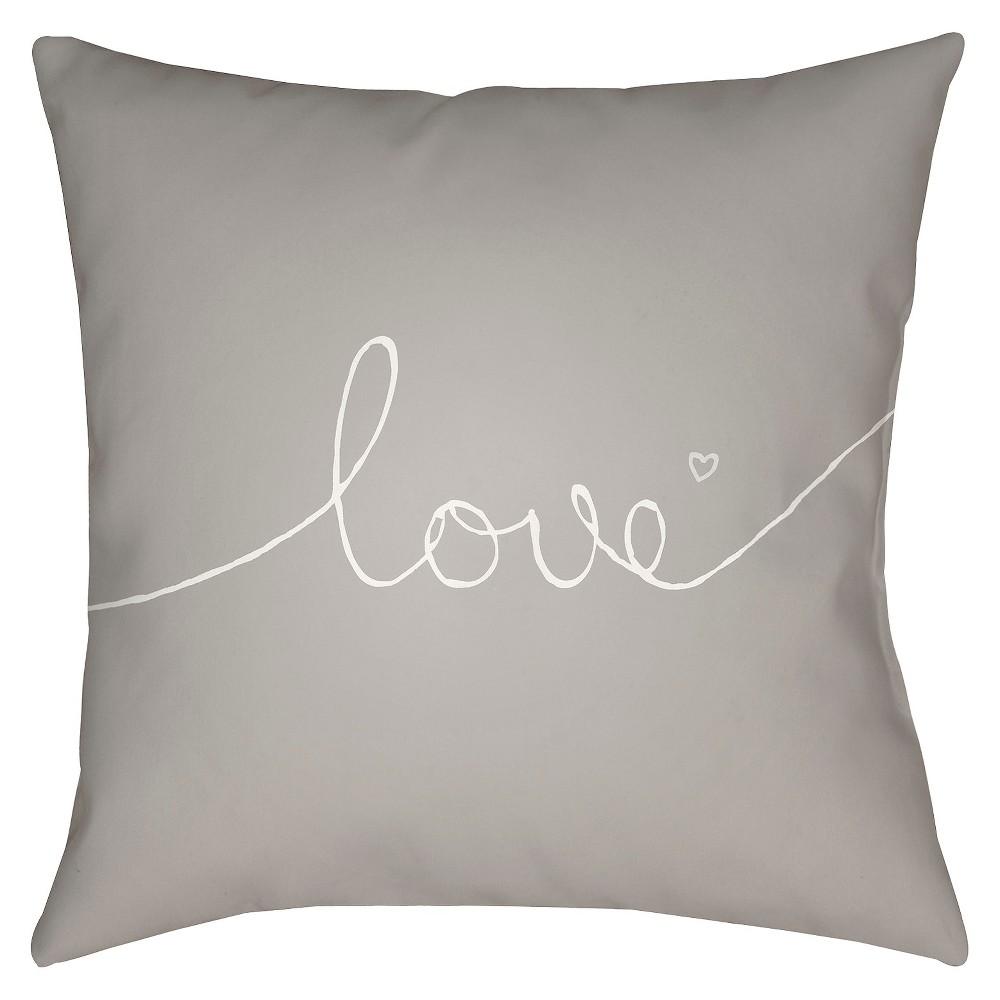 Gray Endless Love Throw Pillow 18