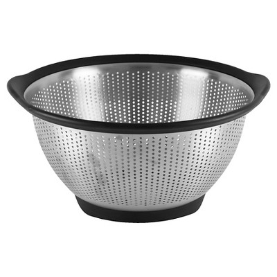 KitchenAid 5 Quart Colander Stainless Steel Black Rim