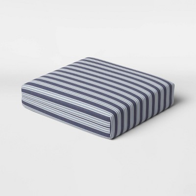 Coastal Stripe Outdoor Deep Seat Cushion DuraSeason Fabric™ Blue - Threshold™