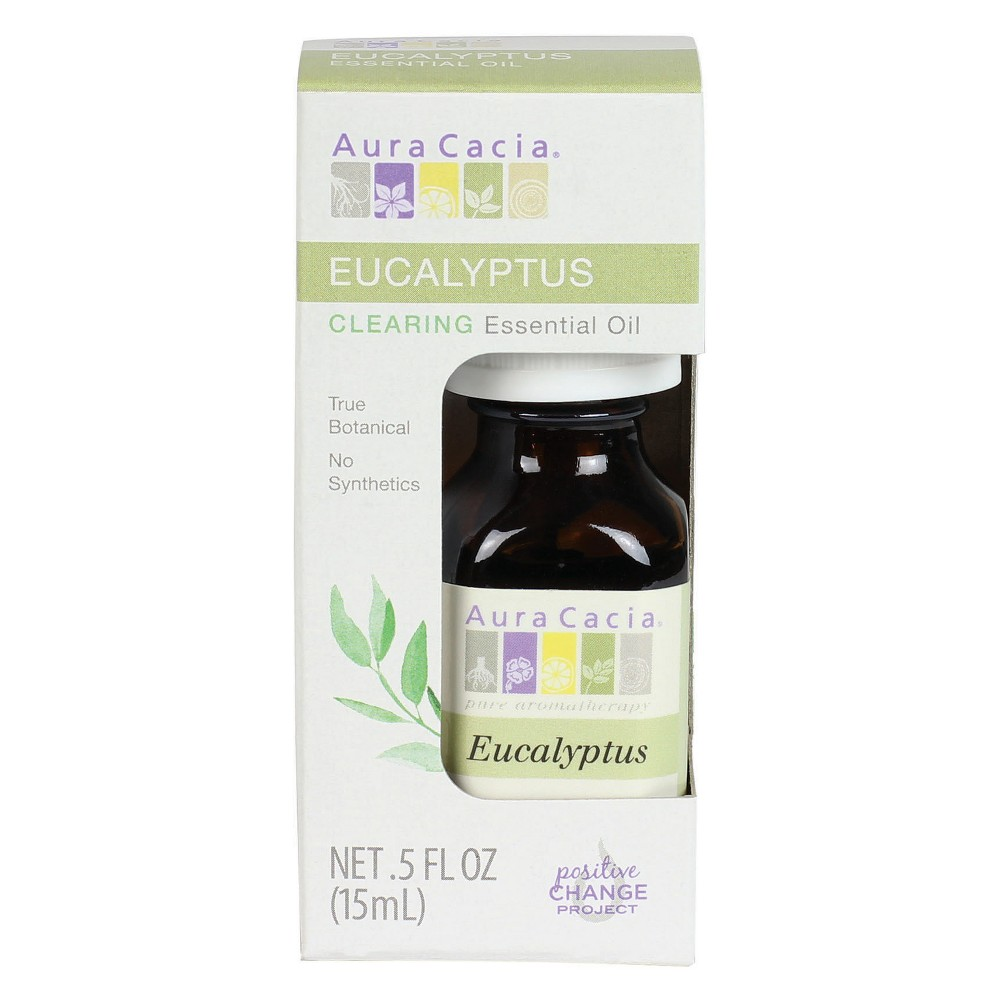 Image of Aura Cacia Eucalyptus Exhilarating Essential Oil - 0.5 oz, Clear