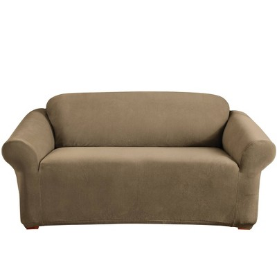 Stretch Pearson Loveseat Slipcover Brown Clay - Sure Fit
