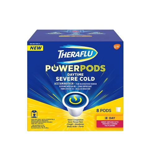 Theraflu PowerPods Daytime Severe Cold Relief - Acetaminophen - Berry with Menthol & Green Tea - 8ct - image 1 of 6