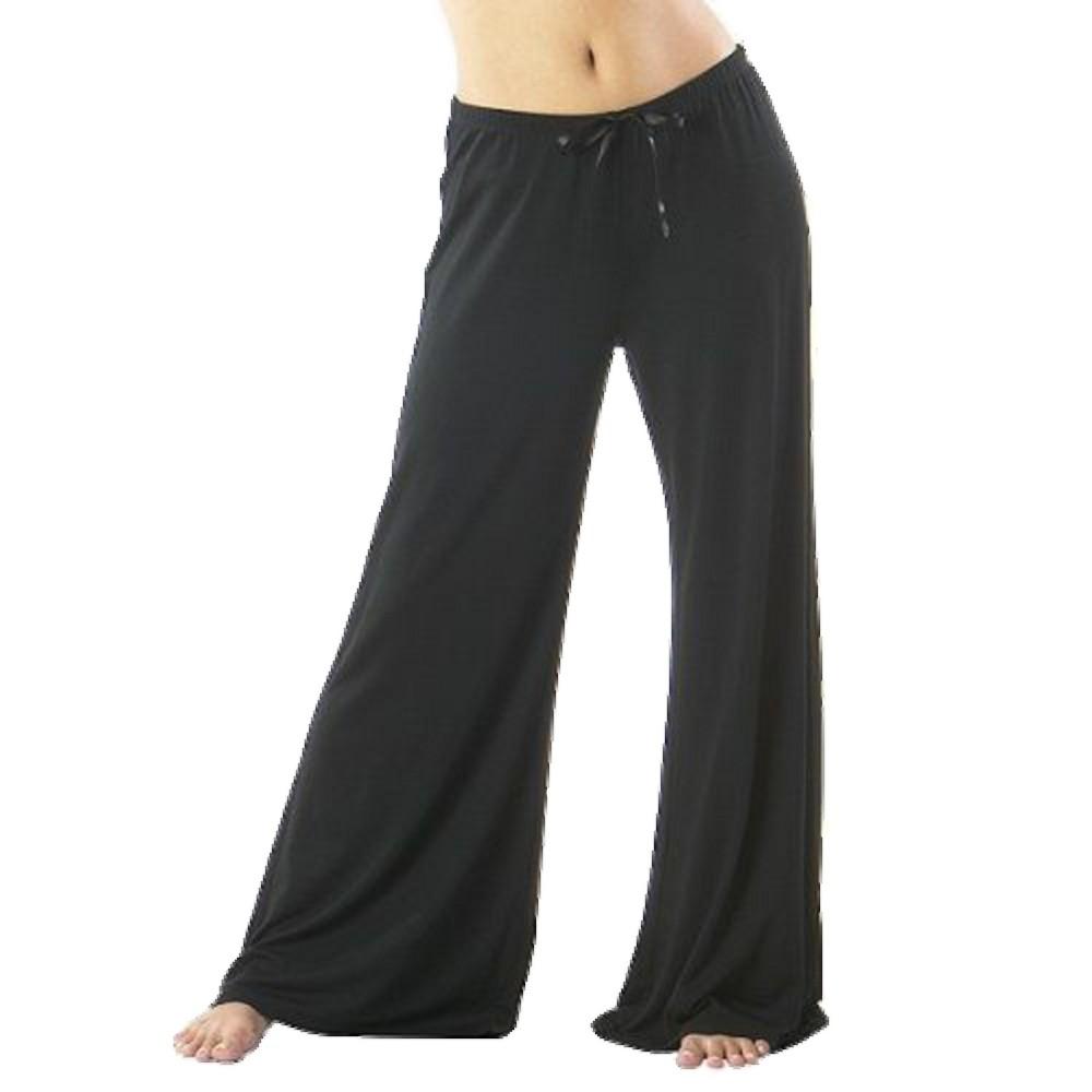 Women's Modal Pajama Pants - Extended Lengths Black XL Short