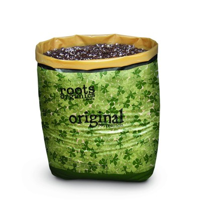 Roots Organics ROD75 Hydroponic Gardening Ready-to-Grow Coco Fiber-Based Potting Soil, 0.75 cu ft/5.6 gal for Plants