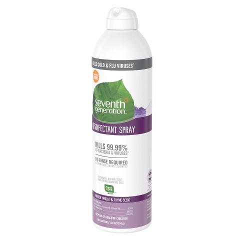 Seventh Generation Lavender Vanilla & Thyme Disinfectant Spray - 13 9oz