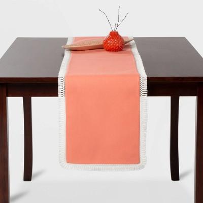 Crochet Border Table Runner Coral - Opalhouse™