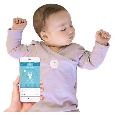 MonBaby Smart Button Baby Monitor - White