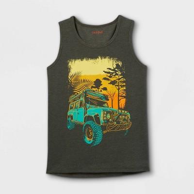 Boys' Safari Truck Tank Top - Cat & Jack™ Olive