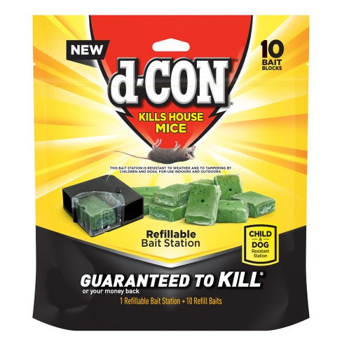 d-CON 1 Refillable Bait Station + Refill Baits - 10ct - image 1 of 1