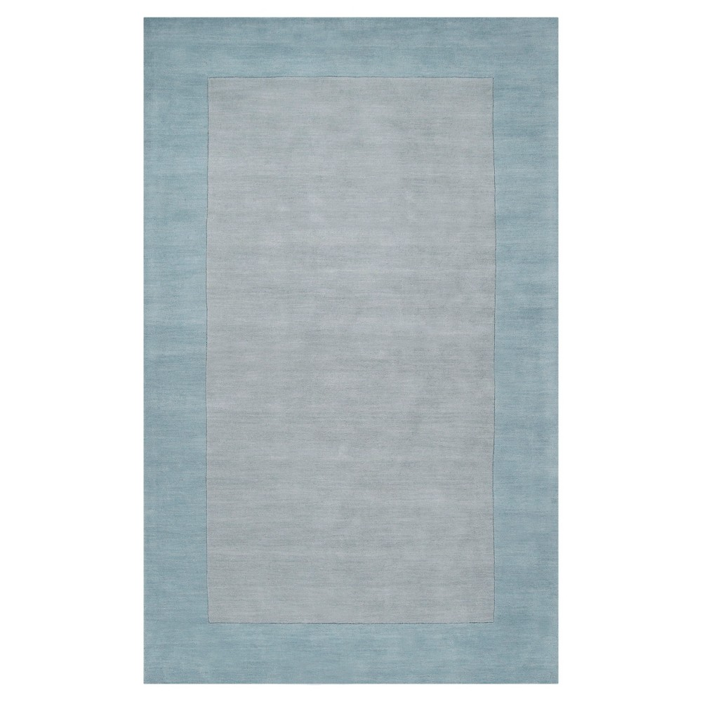 Slate (Grey) Solid Woven Accent Rug - (6'X9') - Surya