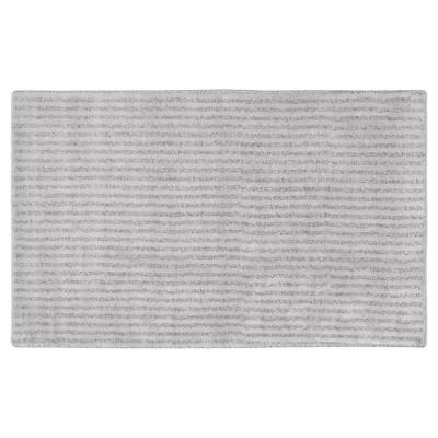 Garland Sheridan Plush Washable Nylon Bath Rug - Platinum Gray (30 x50 )