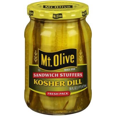 Mt. Olive Sandwich Stuffers Kosher Dill Pickle Slices - 16oz