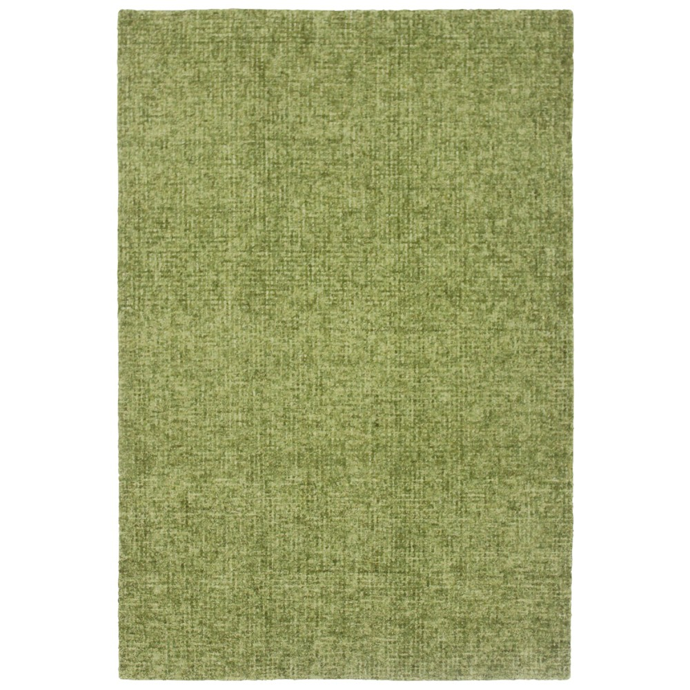 5'X7'6 Solid Tufted Area Rug Green - Liora Manne