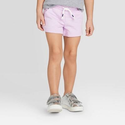 Toddler Girls' Knit Pull-On Shorts - Cat & Jack™ Purple 12M