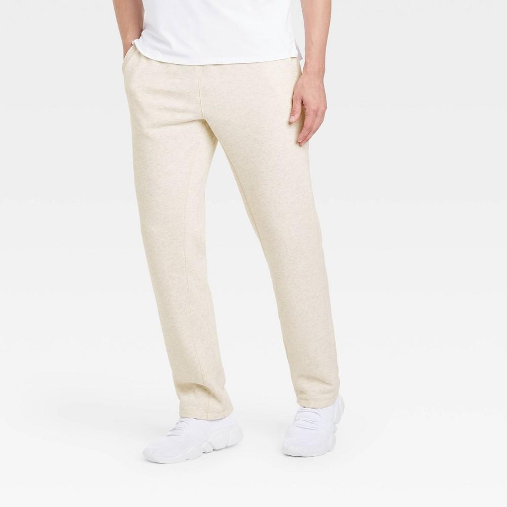 Men 39 S Fleece Pants All In Motion 8482 Cream Heather Xlx32