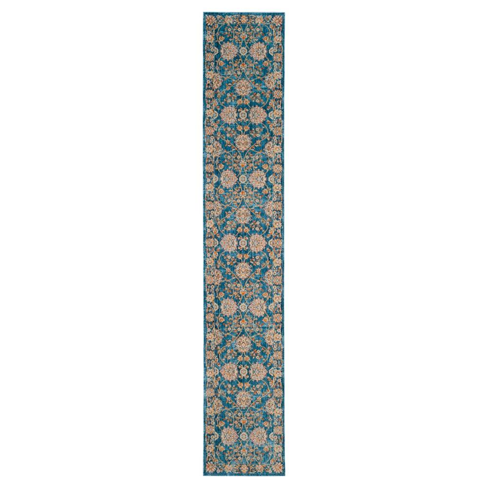 Vintage Persian Rug - Turquoise/Multi - (2'2X12') - Safavieh