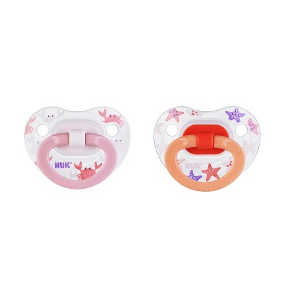 Nuk Pacifier 2pk Sz1 Fashion - Pink