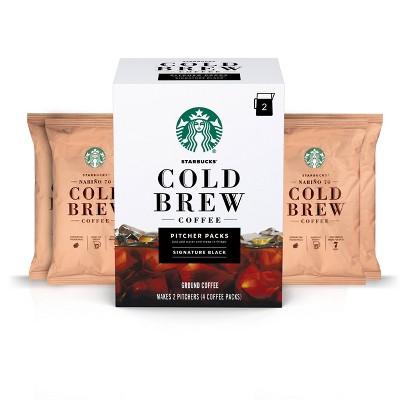 4ct/8.6oz Starbucks Cold Brew Ground Coffee Medium Roast