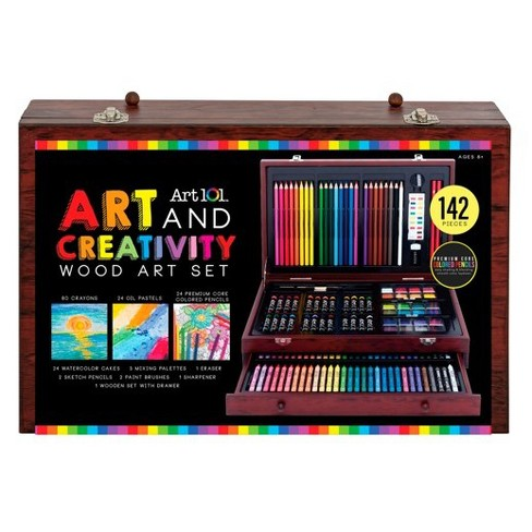 Art 101® Art & Creativity Set in Wooden Case 142pc - image 1 of 6