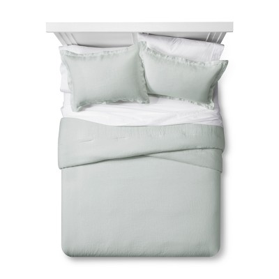 Silver Springs Lightweight Linen Comforter Set (Full/Queen)- Fieldcrest®