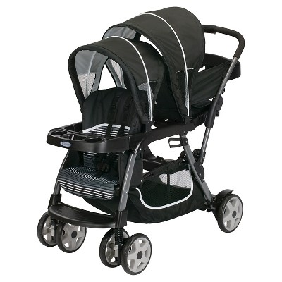 Graco Ready2Grow Click Connect Double Stroller - Licorice