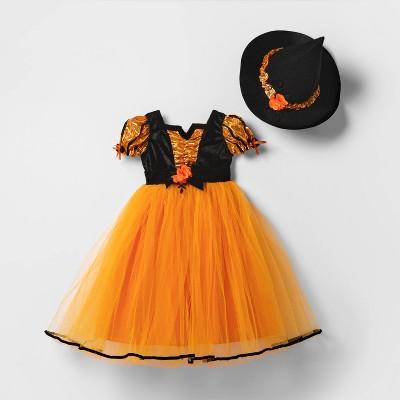 Toddler Orange Fancy Witch Halloween Costume - Hyde & EEK! Boutique™