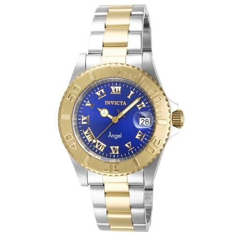 Women's Invicta 14363 Angel Quartz 3 Hand Blue Dial Link Watch - Blue - image 1 of 1